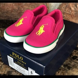 NEW  Polo Ralph Lauren Slip-On Casual Sneakers
